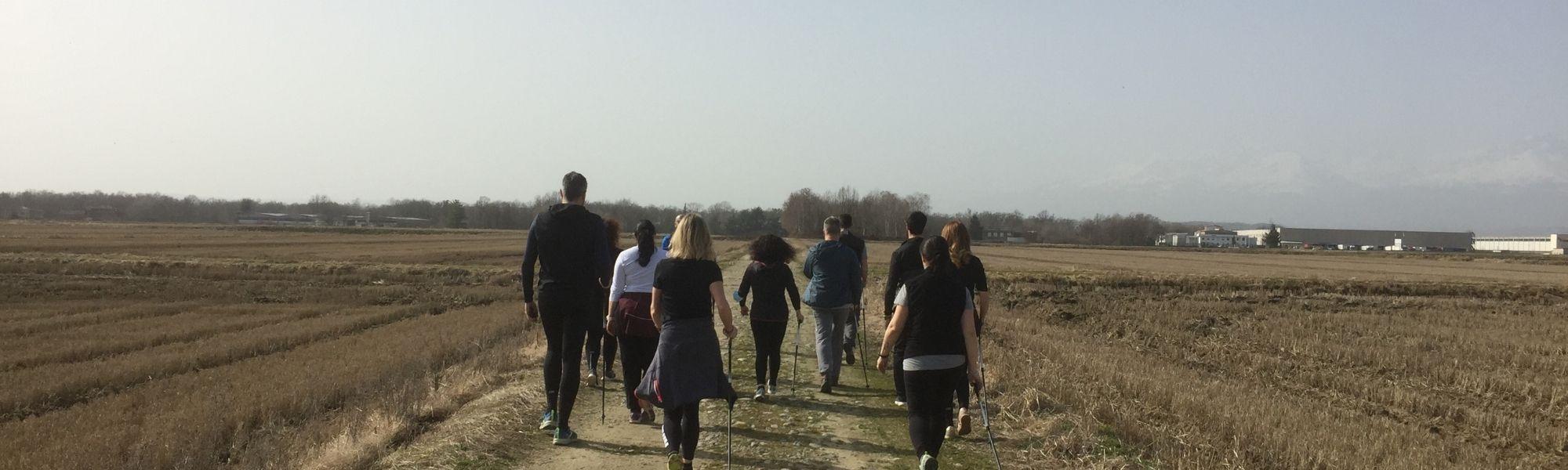 Un momento di una delle passeggiate Mondoffice
